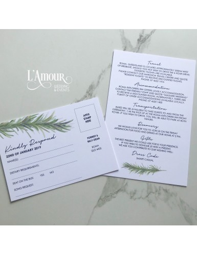 RSVP and Information Cards